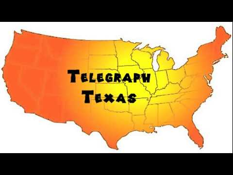 How to Say or Pronounce USA Cities — Telegraph, Texas