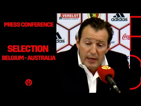 Press Conference Marc Wilmots: Selection Belgium-Australia