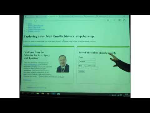 Lecture Tadg O'Shea Irishgenealogy.ie