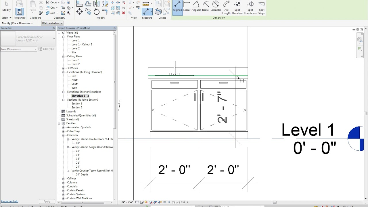 13 7 Revit Dimensioning The Bathroom Elevation