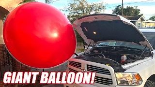 Download We Hooked a GIANT BALLOON To My ProCharger! Mp3 and Videos