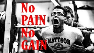 Powerlifting Motivation - NO PAIN NO GAIN 🆚 PAIN is Temporary