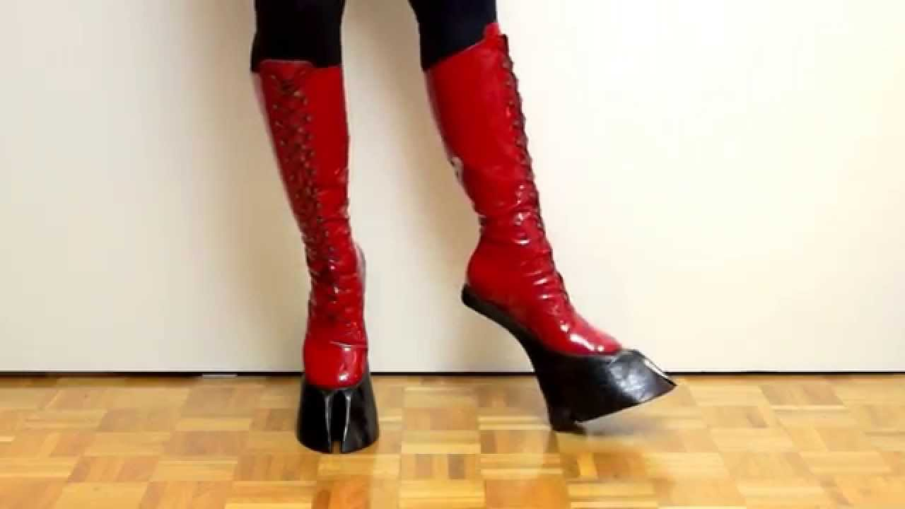 f948403bc0 SUCCUBUS HOOF BOOTS - patent red - YouTube