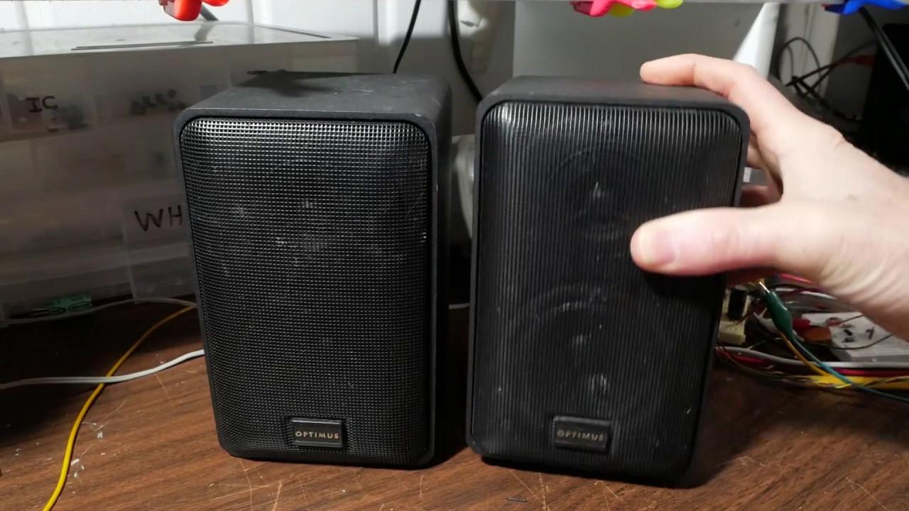 Radio Shack Optimus Pro X33av Mini Speaker Review