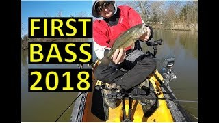First Bass of 2018 on The Kayak - Spring