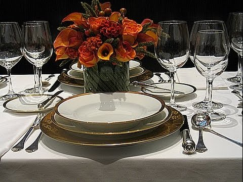 formal dining table set up youtube. Black Bedroom Furniture Sets. Home Design Ideas