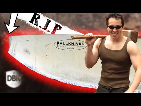 Swedish Airforce Fallkniven F1 Knife Destruction | Was Survival Lilly Right!?