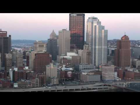 Pittsburgh City Skyline at Dusk-View from Mount Washington in High Definition