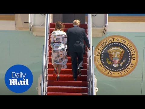 Donald Trump and Melania leave for Japan on Airforce One