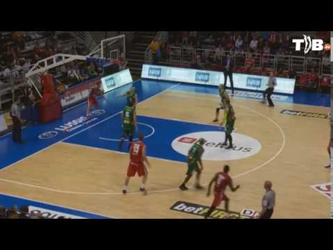 Lorenzo Giancaterino (Liège Basket) - Alley Oop finish