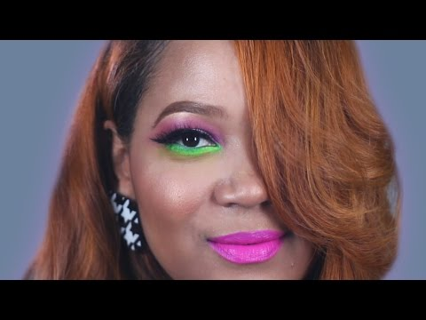1 Woman + 5 Neon Eye Makeup Looks