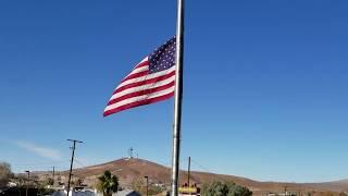 George H W Bush Funeral Memorial Flag At Half Staff