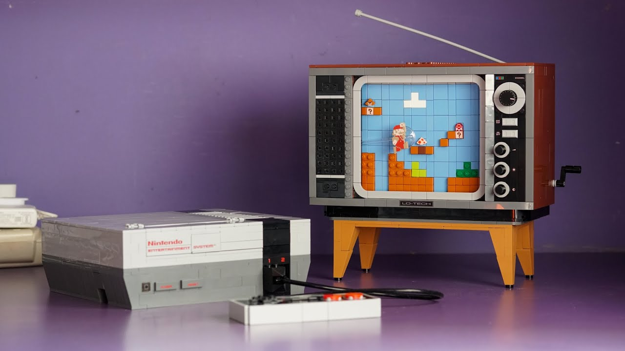 LEGO Nintendo Entertainment System Set (71374) REVIEW - UNBOXING, BUILD, & HIDDEN EASTER EGG