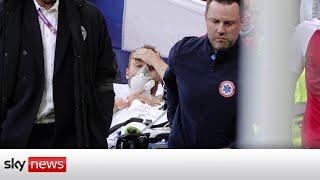Christian Eriksen is 'awake and stabilised'