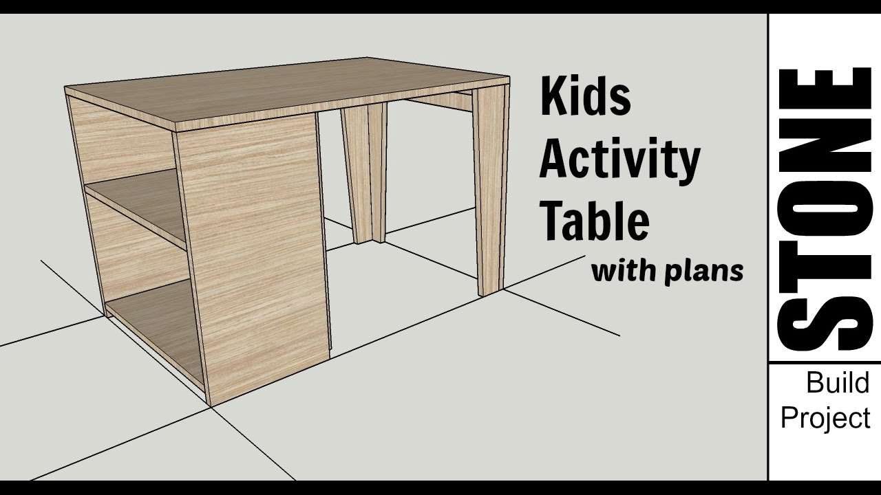 Kids Wooden Activity Table   Woodworking Project With Plans