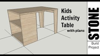 Kids Wooden Activity Table - Woodworking Project with Plans