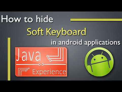 4c7eb42a0d9 How to hide the soft keyboard in android - YouTube