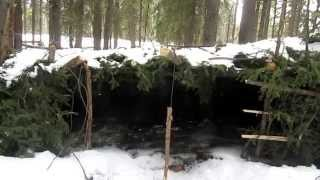 The Improved Winter Lean to Bushcraft Shelter