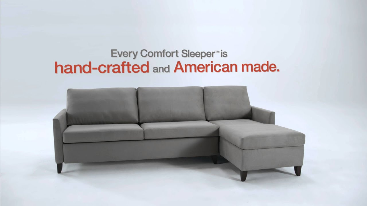 Charming American Leather Comfort Sleeper.
