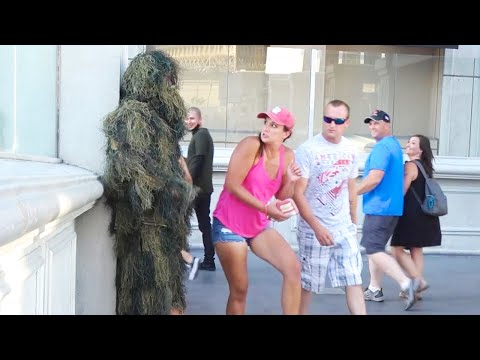 FUNNY Bushman Prank! SHE Was In Shock!