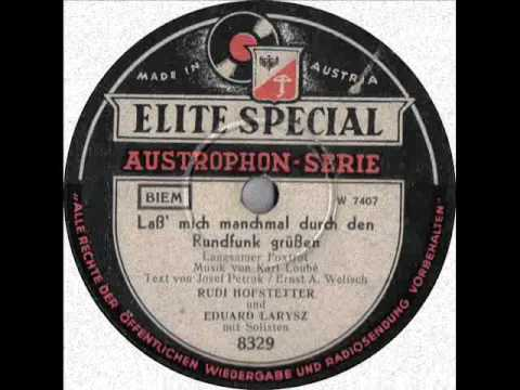Rudi Hofstetter  Lass mich manchmal durch den Rundfunk grüssen
