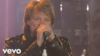 bon jovi you give love a bad name live on letterman