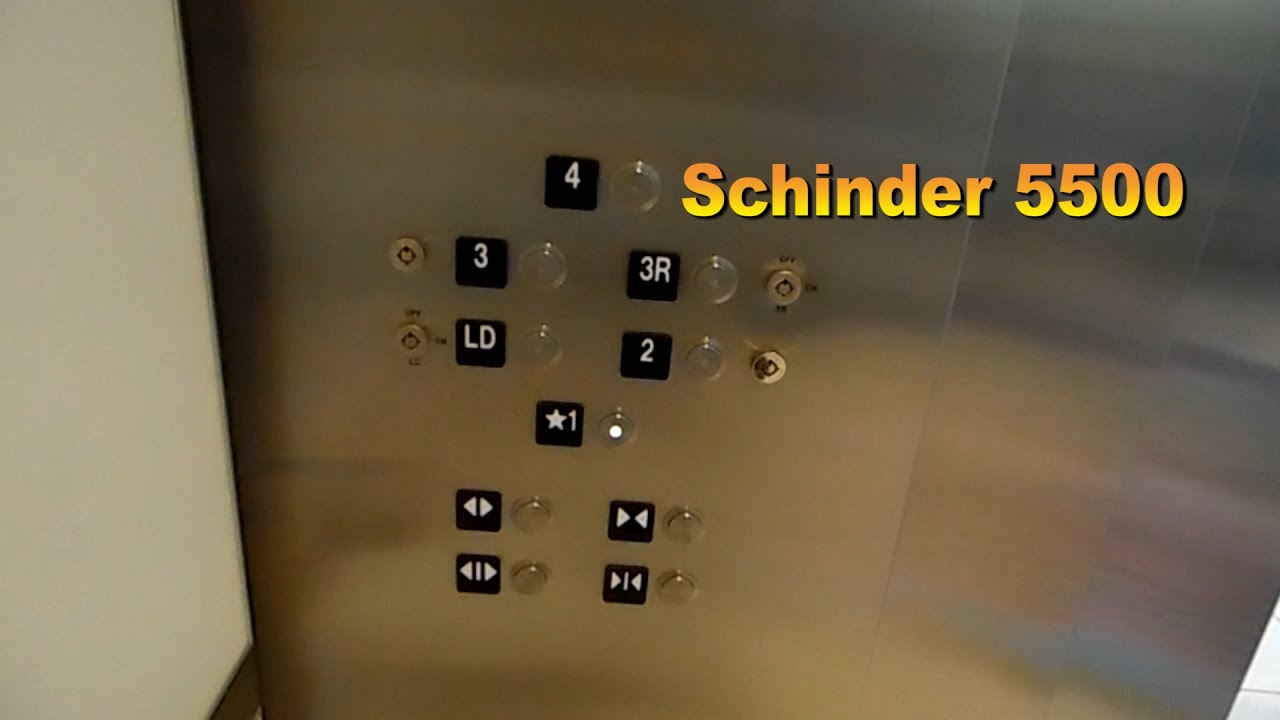 Schindler 5500 Mrl Traction Elevators To Public Buses Tampa Int L Airport Tampa Fl Youtube