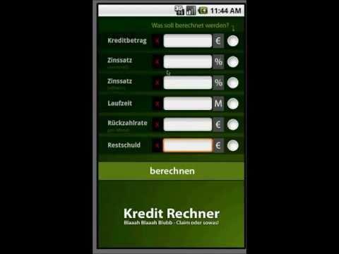 Kredit Rechner Android App Demo