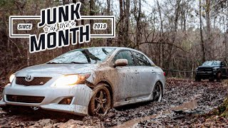 Buying a New Toyota Corolla and Immediately Sinking it in Mud.