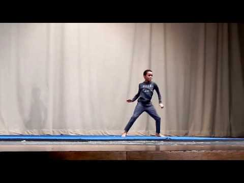 Max Dances to Radioactive at School Talent Show - Jan 12, 2017