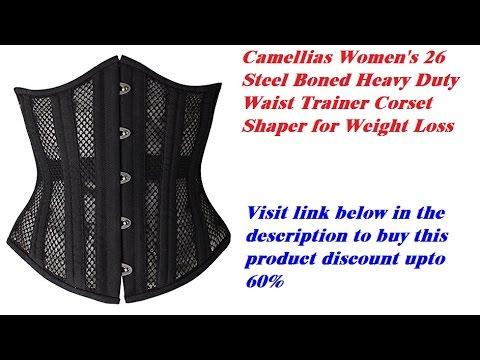 6ea573c3fe Review Camellias Women s 26 Steel Boned Heavy Duty Waist Trainer Corset  Shaper for Weight Loss