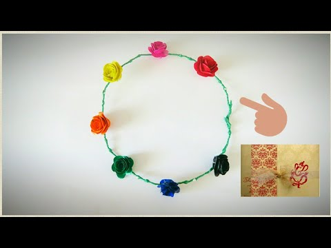 Best use of old marriage / wedding cards || how to make tiara at home || Easy DIY tiara