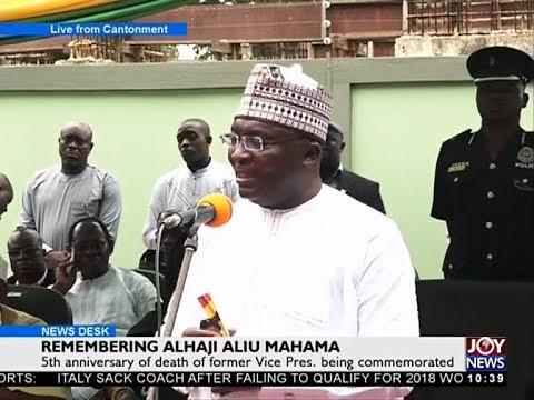 Remembering Alhaji Aliu Mahama - News Desk on Joy News (16-11-17)