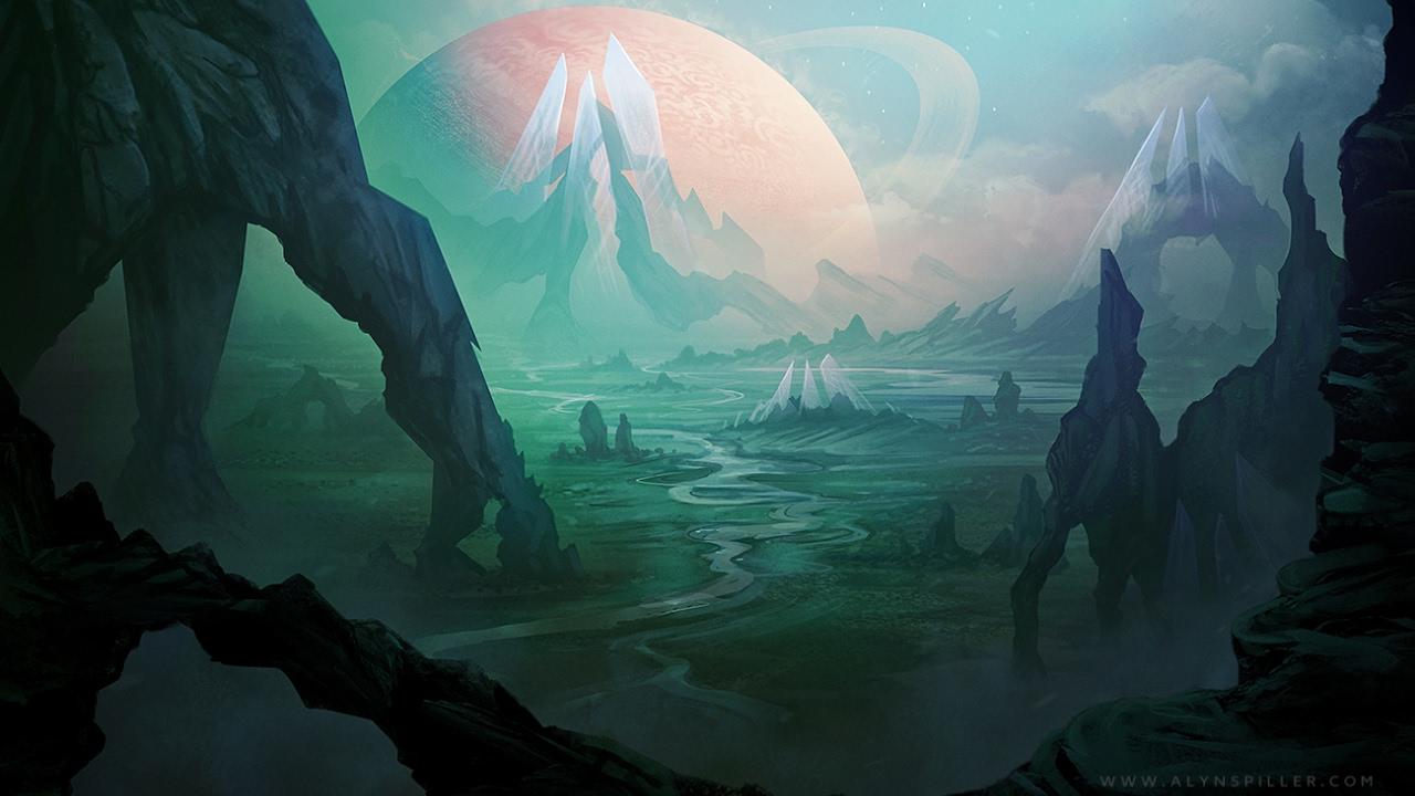 Digital Speed Painting - Sci-Fi Landscape - YouTube