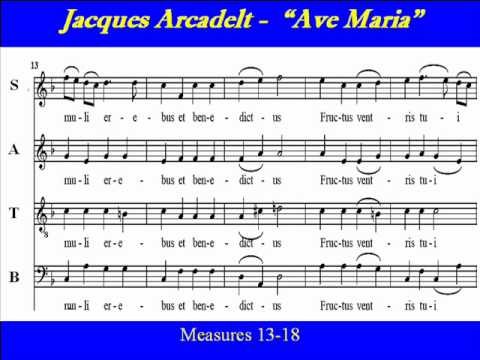 Arcadelt-Ave Maria-Score-Choir
