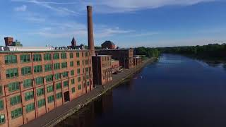 Waltham Watch Factory from Charles River