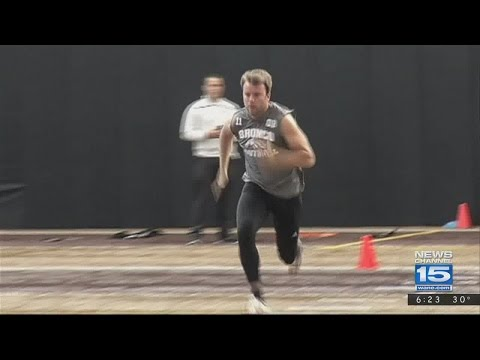 Zach Terrell shines at WMU pro day on 3/15/17 - video courtesy: WWMT-TV