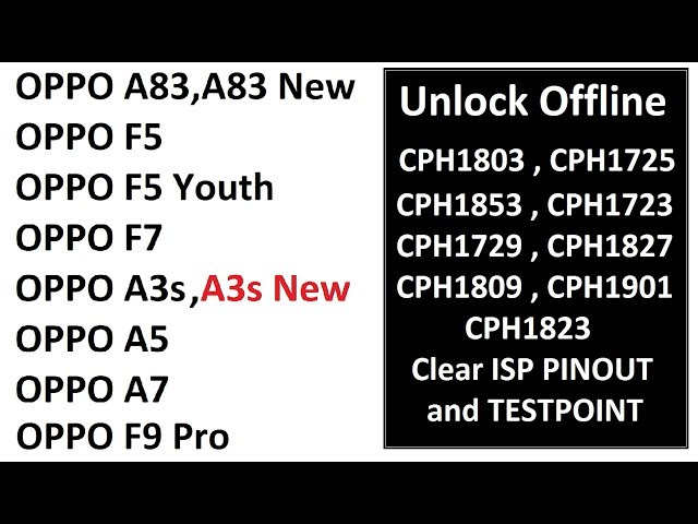 Oppo Unlock All Model Testpoint and ISP Pinout | Now its