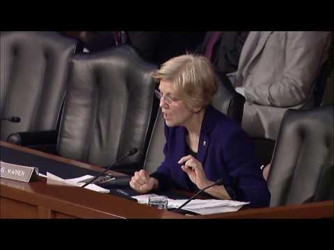 Senator Elizabeth Warren at Armed Services Hearing on the Defense Budget