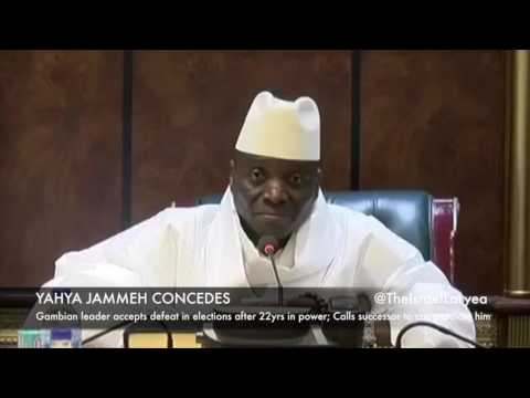YAHYA JAMMEH (GAMBIA) CONCEDES