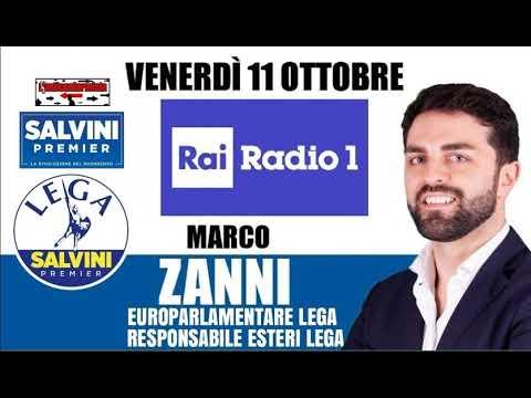 """🔴 On.Marco Zanni, Presidente Gruppo """"I.D."""" Del Parlamento UE, Su """"Radio1"""" (11/10/2019)"""