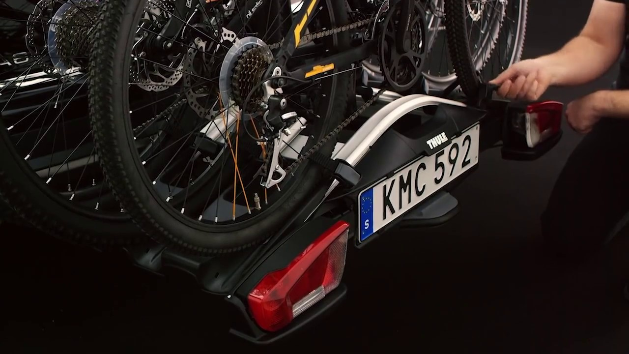 thule velocompact 927 bike carrier from driveden youtube. Black Bedroom Furniture Sets. Home Design Ideas