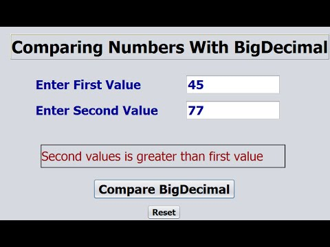 Comparing BigDecimal in Java NetBeans
