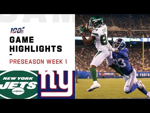 Jets vs. Giants Preseason Week 1 Highlights | NFL 2019