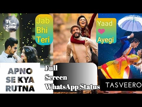 New WhatsApp Status Video||Full Screen||Jab Bhi Teri Yaad Ayegi||Tr.Zone||