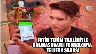 GALATASARAYLI FUTBOLCUYU FATİH TERİM SESİYLE TROLLEDİM !