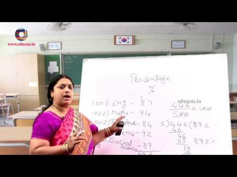 Ratio Applications   Percentage - 7th Class Mathematics