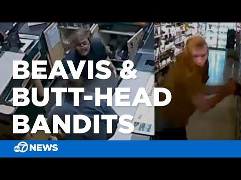'Beavis And Butt-Head Bandits' Caught On Camera Robbing Store