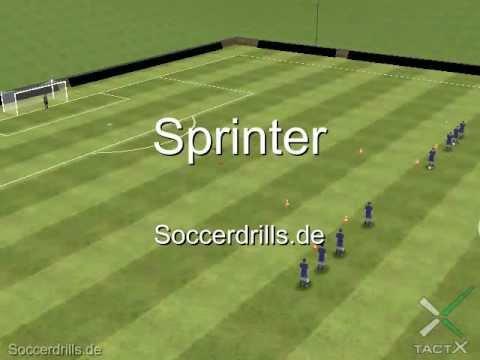 Torschuss Mit Sprint Torschuss Fussballtraining Auf Soccerdrills De