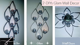 DIY Dollar Tree Tear Drop Wall Decor 💎 Glam Candle Holder - DIY Glam Room and Home Decor